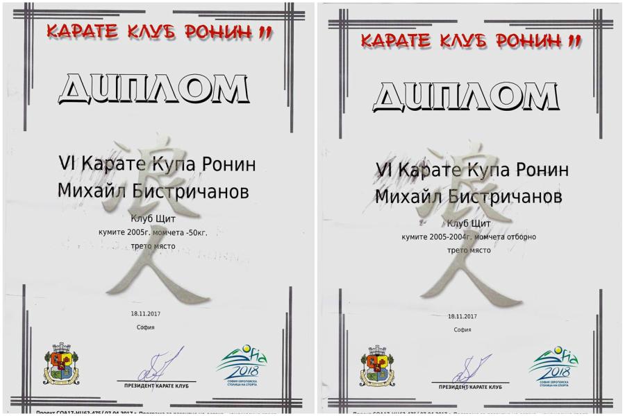Дипломи, BodyConstructor