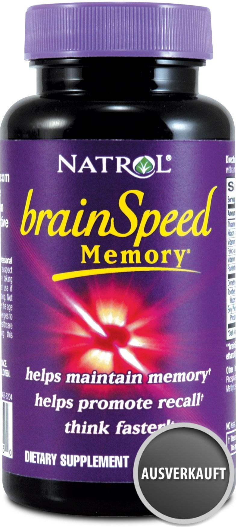 Natrol Brain Speed Memory