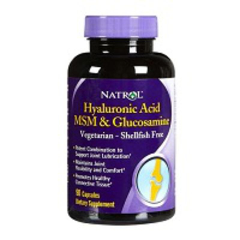 Natrol Hyaluronic Acid, MSM, Glucosamine