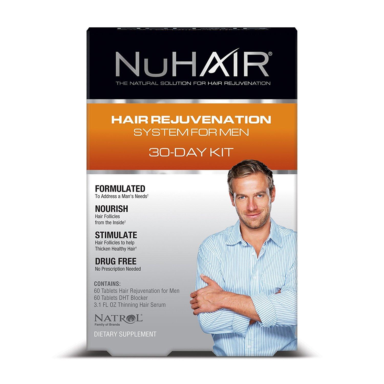 Natrol NuHAIR Men′s Kit (Hair Regrowth + DHT Blocker + Thinning Hair Serum)