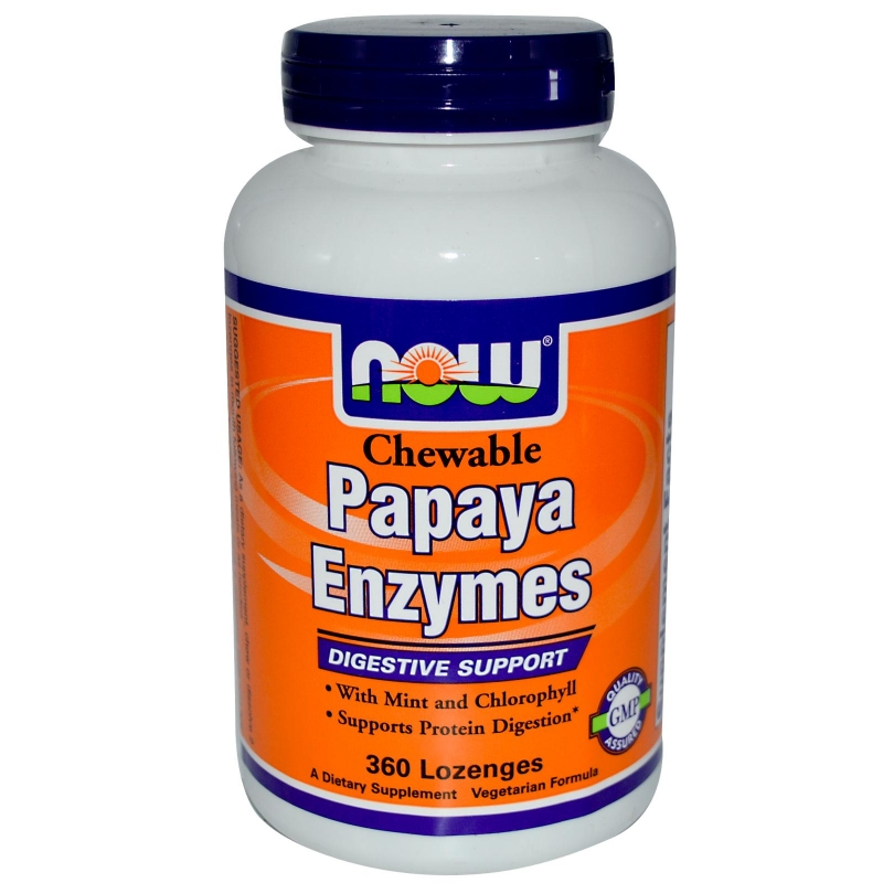 NOW Papaya Enzynes