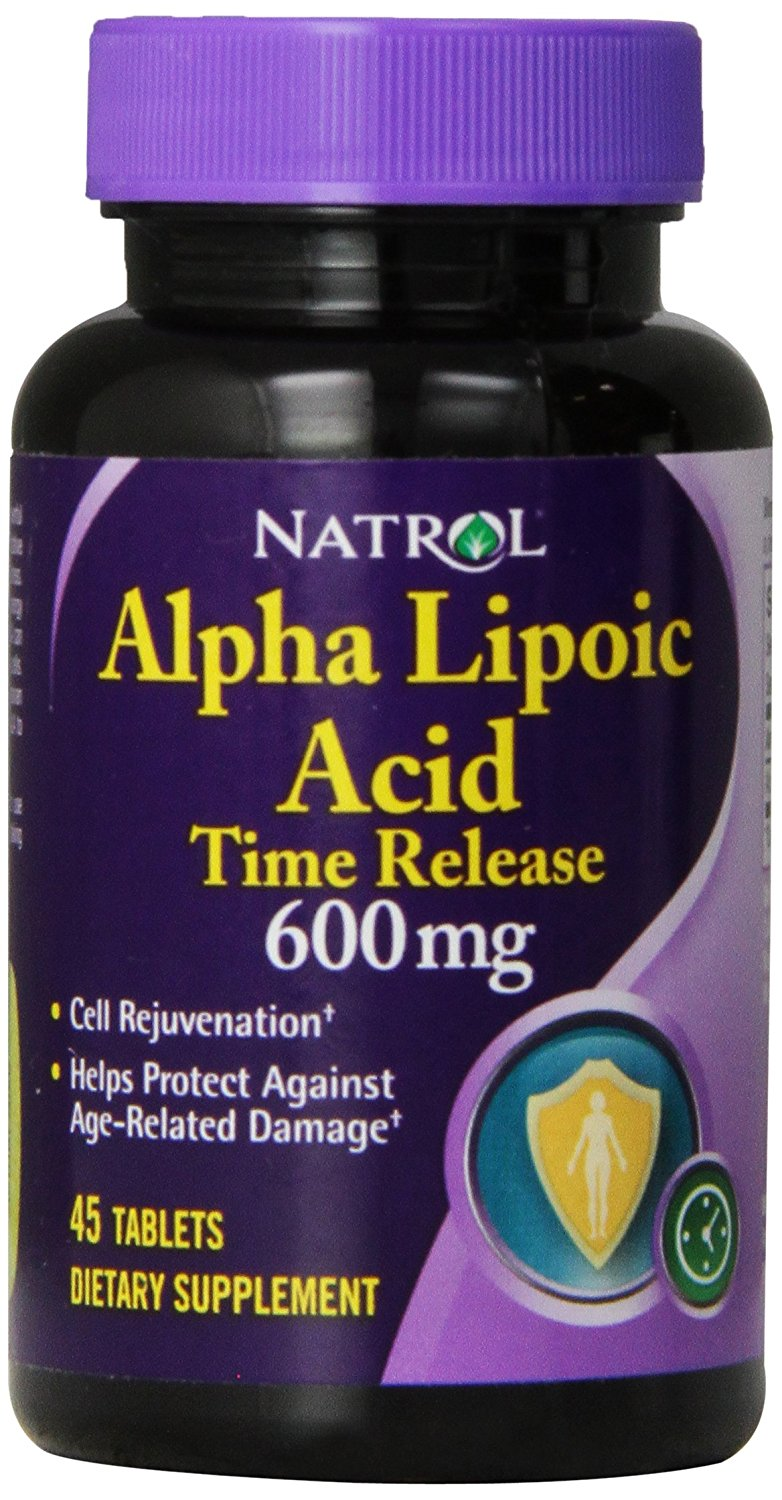 Natrol Alpha Lipoic Acid Time Release 600 mg