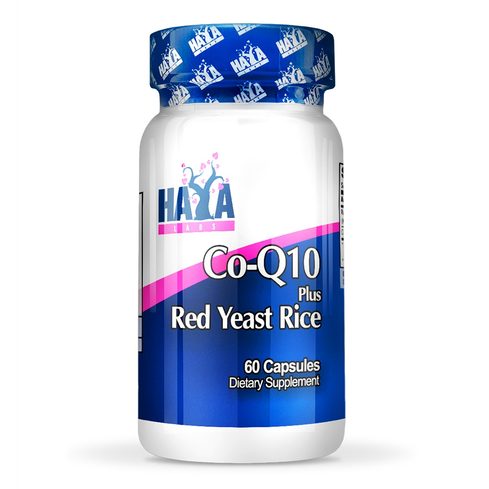 HAYA Labs Co-Q10 60mg & Red Yeast Rice 500mg