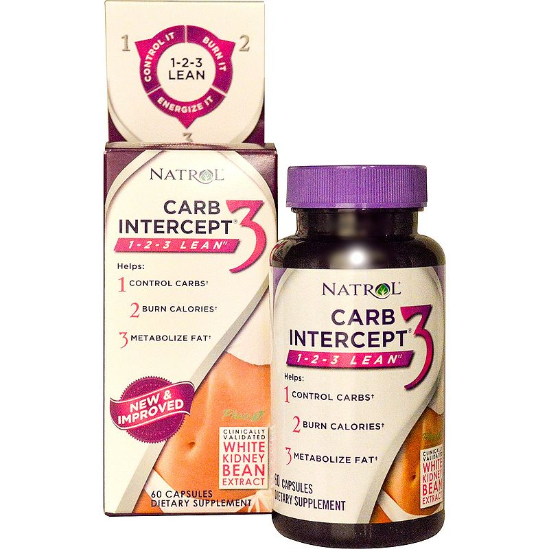 Natrol Carb Intercept Phase 3 with Phase2 + Chromium