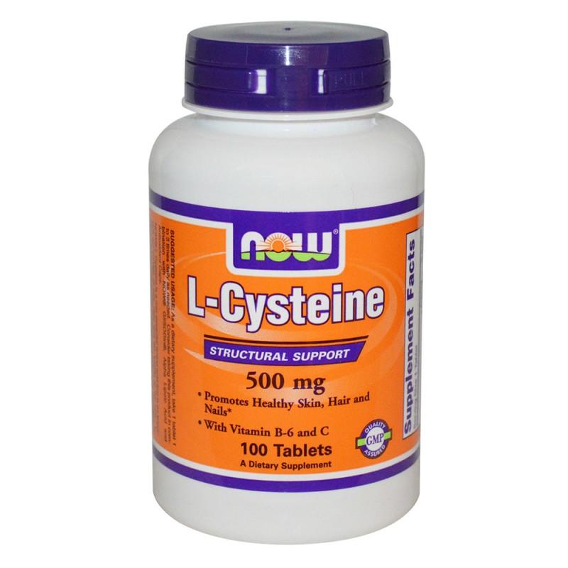 NOW L-Cysteine - 500 мг - 100 Таблетки