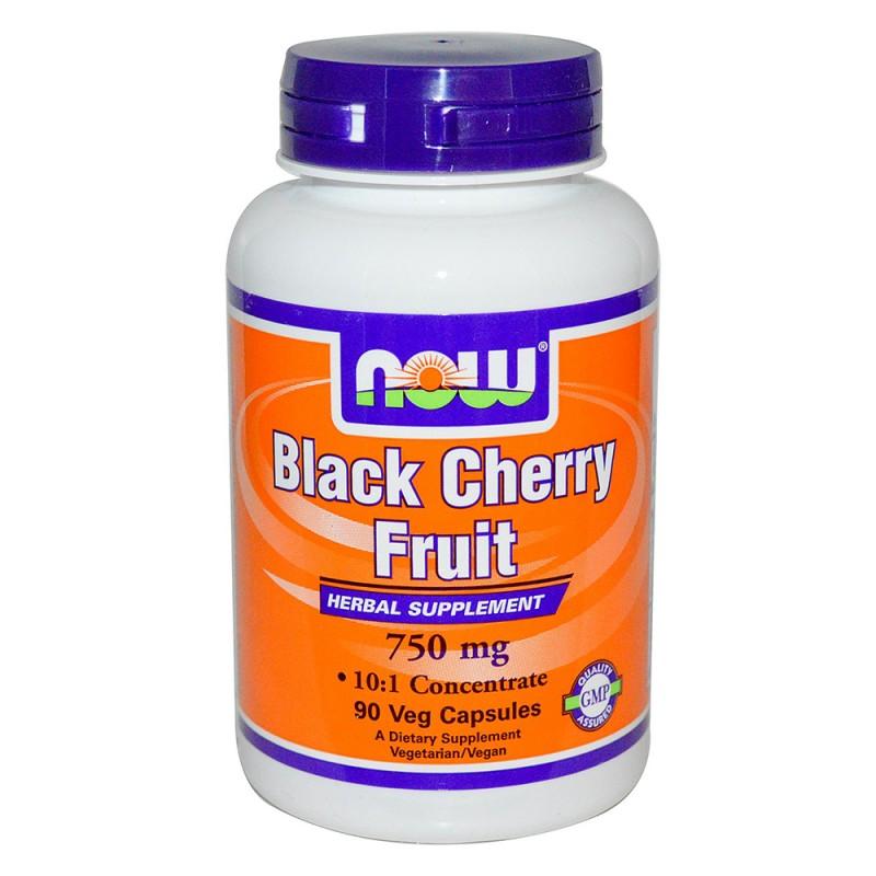 NOW Black Cherry Fruit 750mg./90caps.