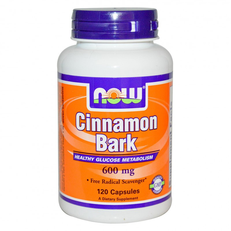 NOW Cinnamon Bark 600mg.