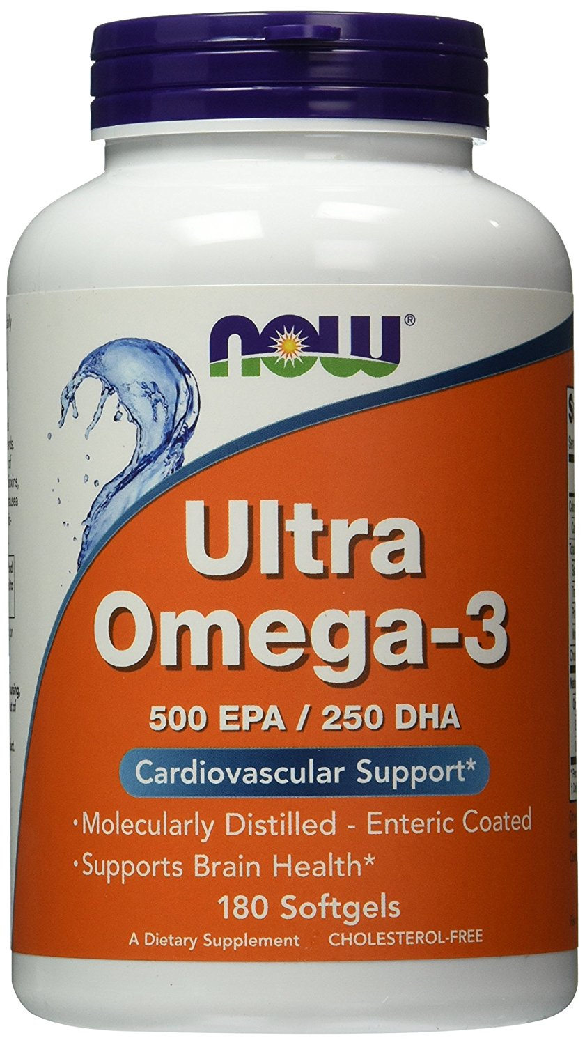 NOW Foods Omega-3 Fish Oil (Течни Омега 3 мастни киселини с Лимонов вкус)