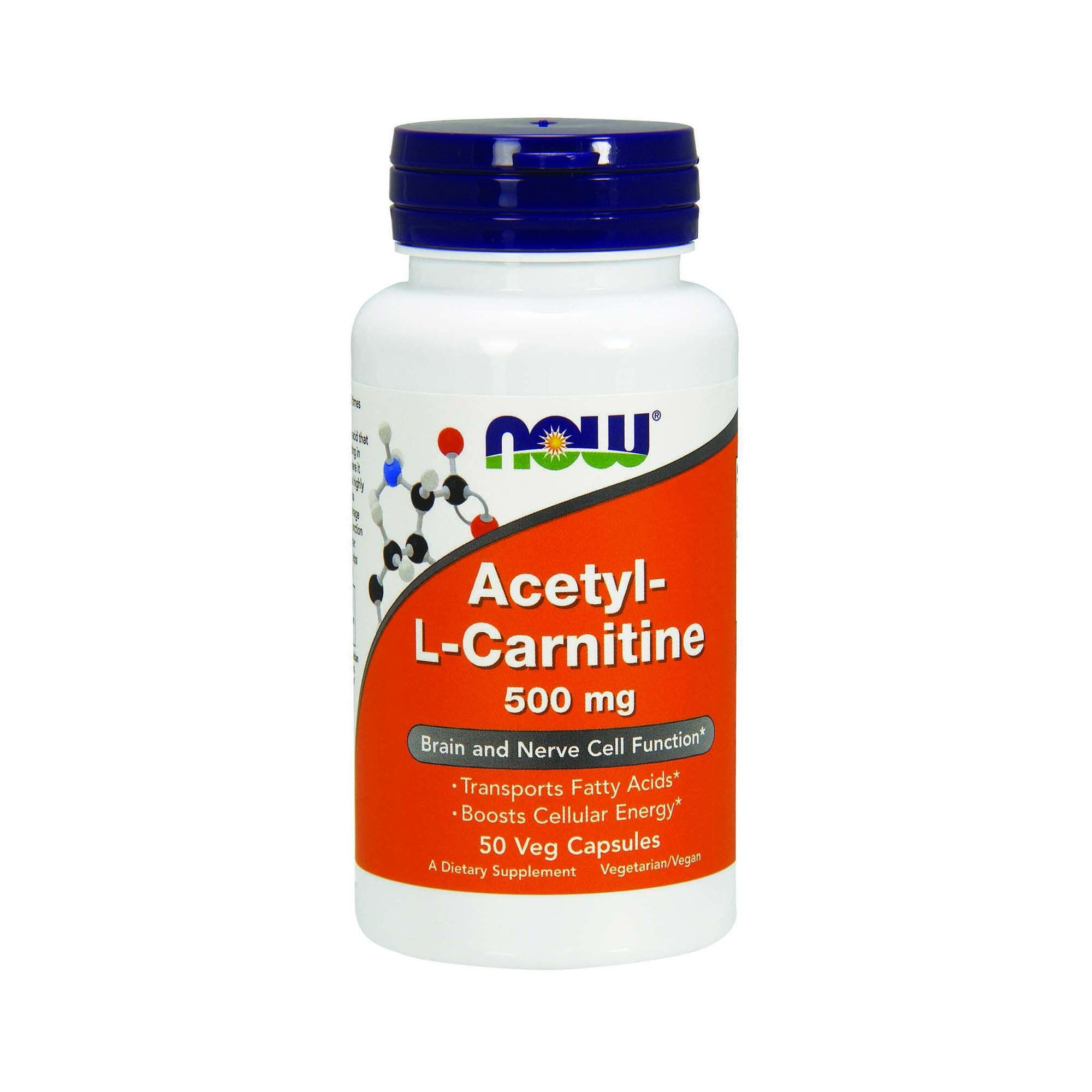 NOW Foods Acetyl L-Carnitine 500 мг