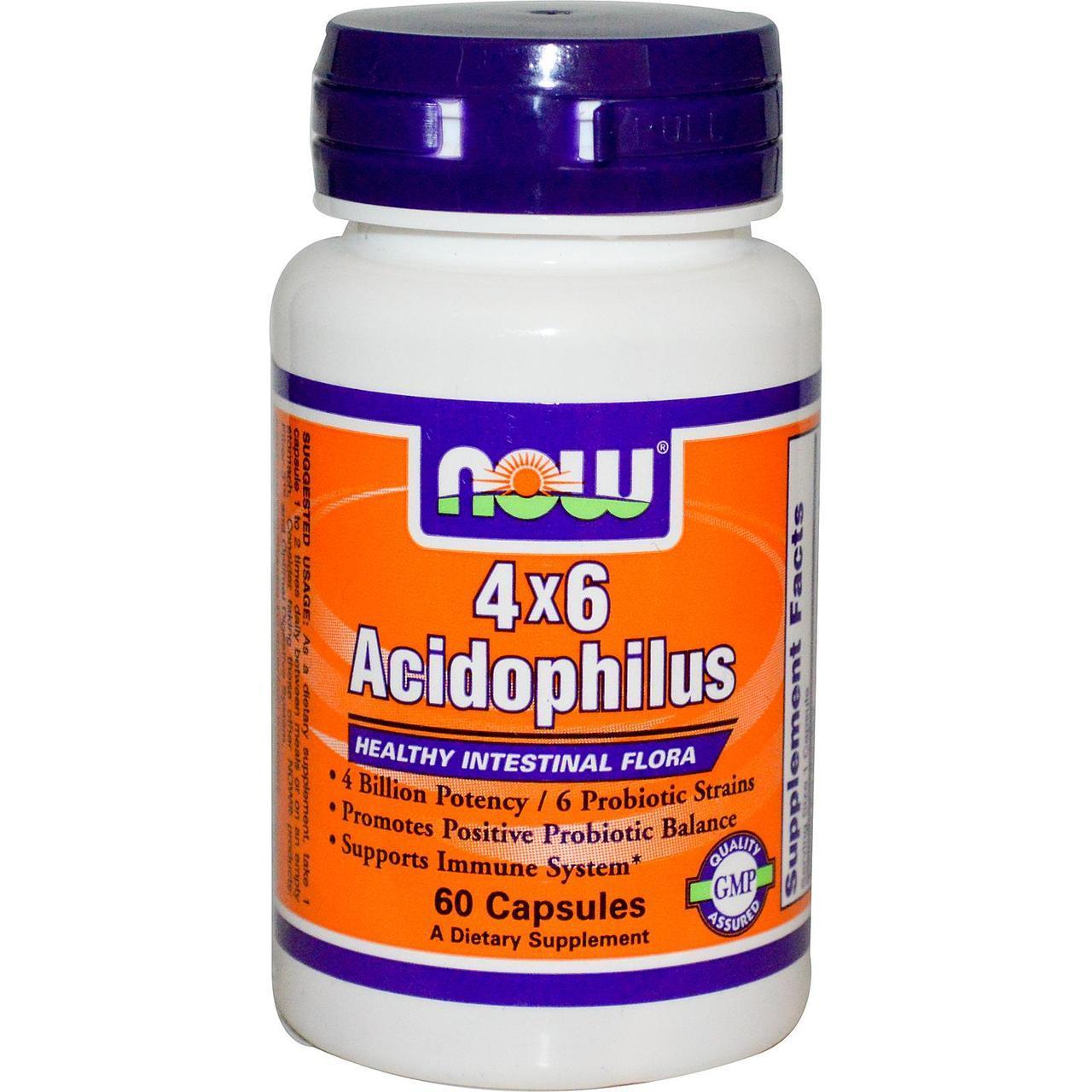 NOW Foods Acidophilus 4 X 6 Billion