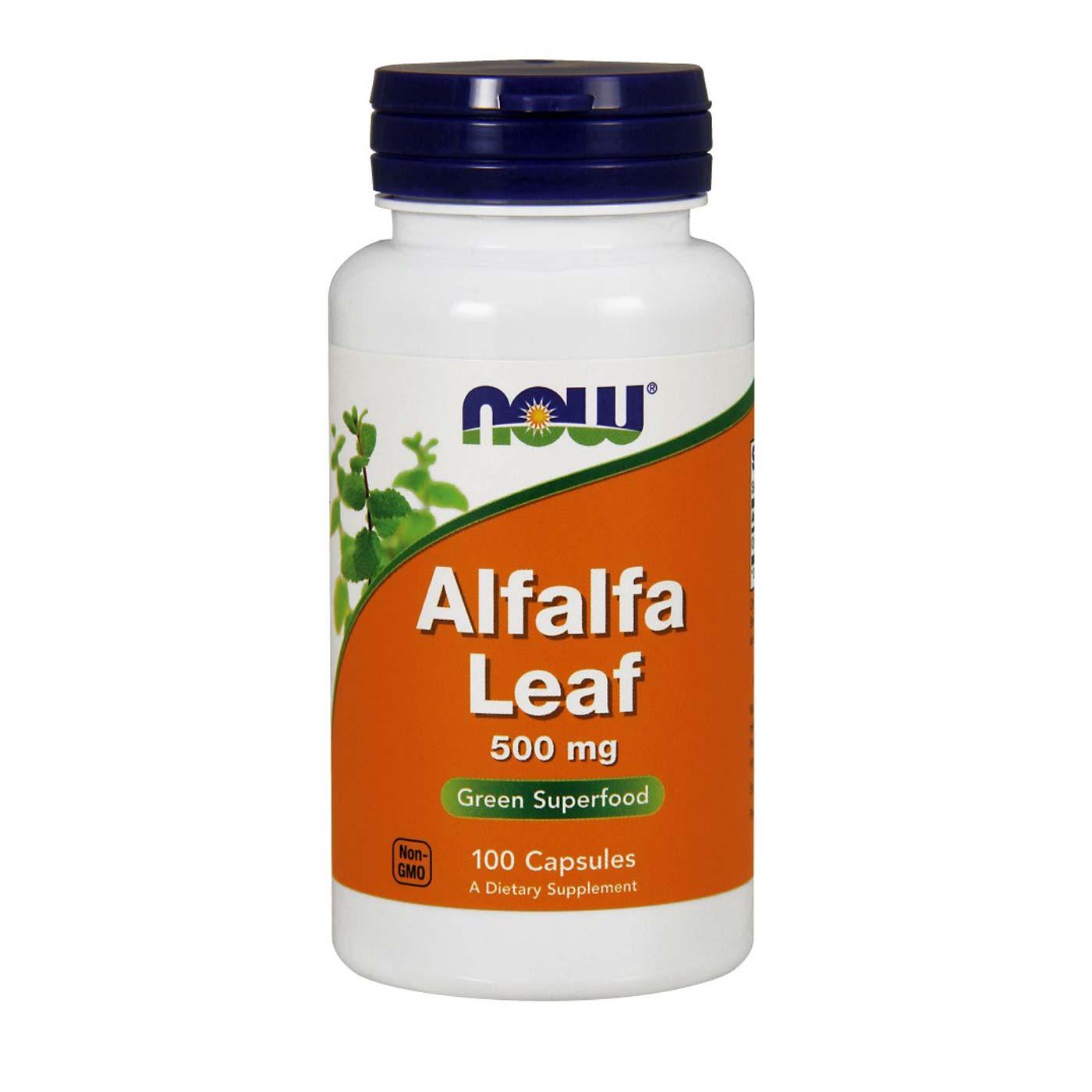 NOW Foods Alfalfa Leaf 500 мг