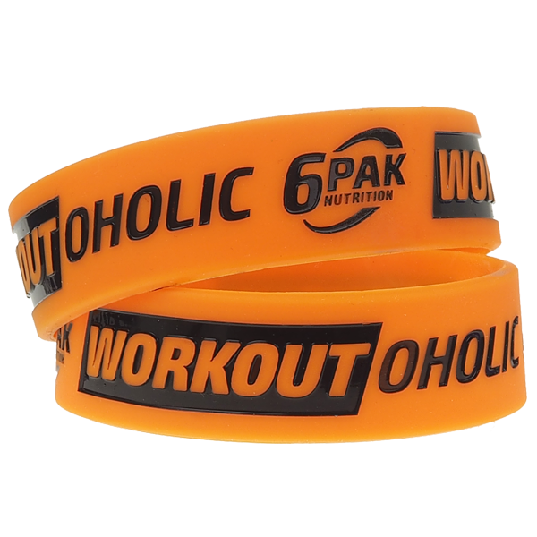 6PAK NUTRITION Wristband Workoutоholic (Силиконова гривна)