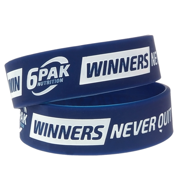 6PAK NUTRITION Wristband Winners Never Quit (Силиконова гривна)