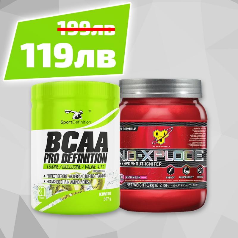 Bcaa Pro Definition 507g + Bsn No-xplode 3.0 New Formula 50serv