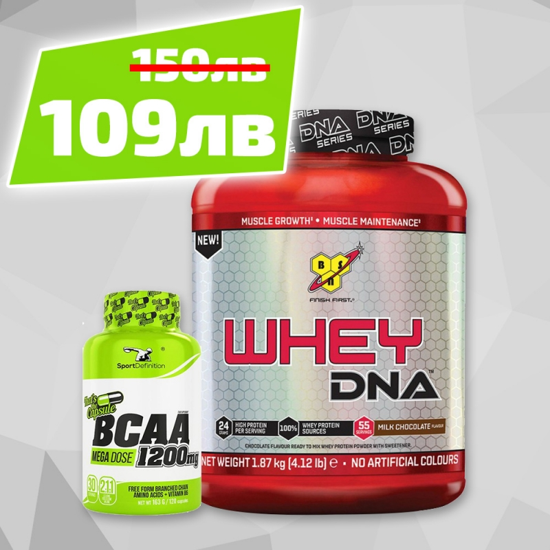 Bcaa Caps 1200mg 120caps + Bsn Whey Dna 1,87kg