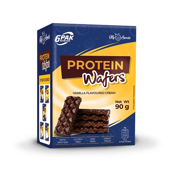 6PAK NUTRITION My Sweets Protein Wafers Choco Coating 90g