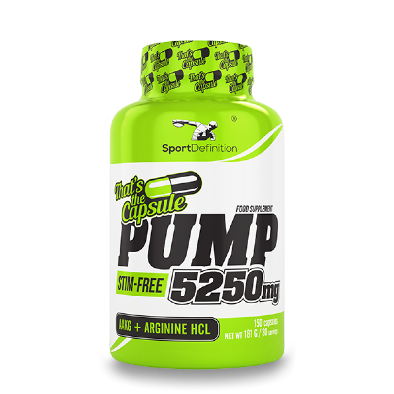Sport Definition Pump 5250 Mg That′s The Capsule