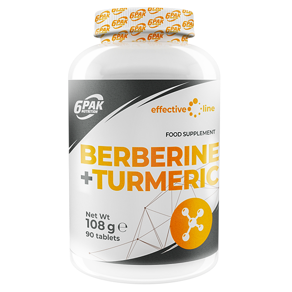 6PAK NUTRITION Effective Line Berberine + Turmeric