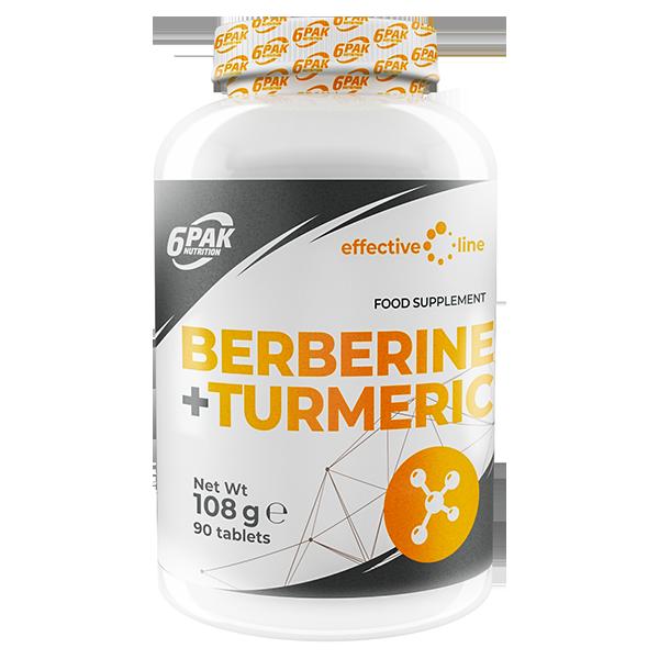 6PAK NUTRITION Effective Line Berberine + Turmeric 90tabs (Куркума и берберин)