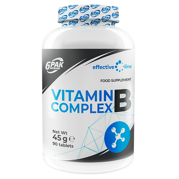 6PAK NUTRITION Effective Line Vitamin B Complex 90tabs (Витамин Б комплекс)