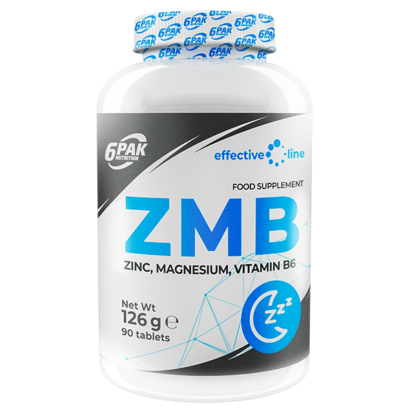 6PAK NUTRITION Effective Line Zmb 90tabs (Цинк, магнезий и витамин Б6)