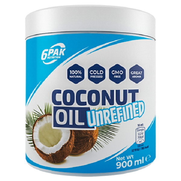 6PAK NUTRITION Coconut Oil Unrefined 900ml (Кокосово масло)