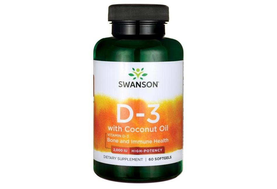 Swanson Vitamin D-3 With Coconut Oil