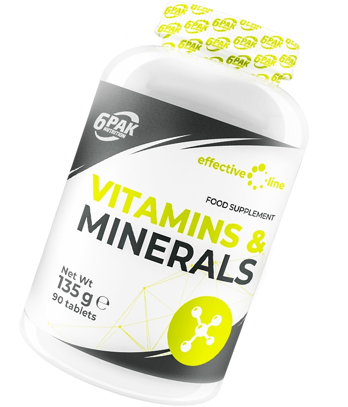 6PAK NUTRITION Effective Line Vitamins & Minerals