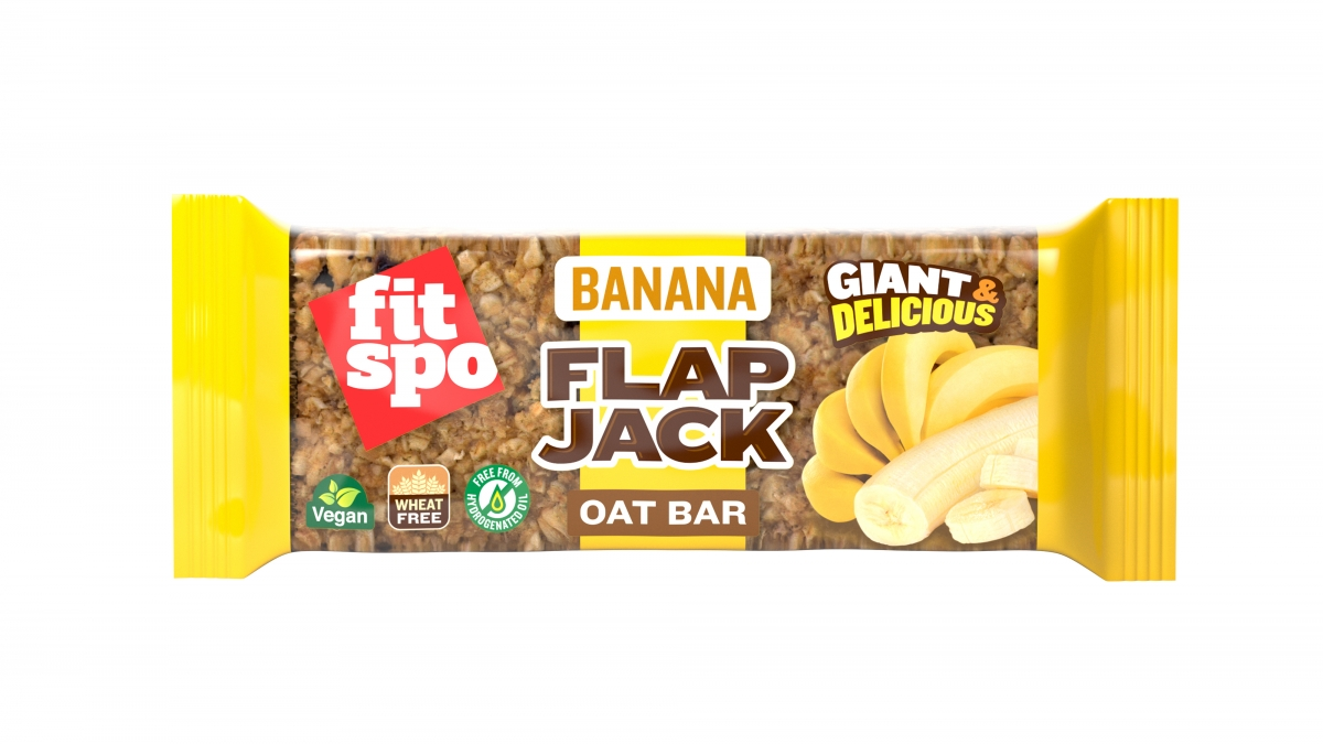Fit Spo Flap Jack Energy Oat Bar Banana