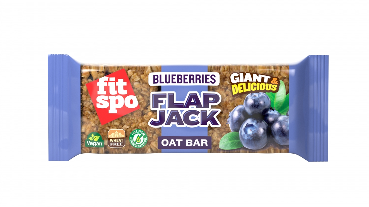 Fit Spo Flap Jack Energy Oat Bar Blueberries
