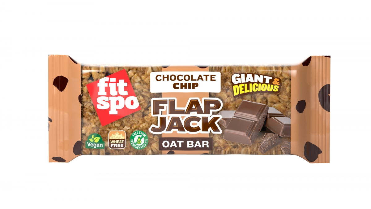 Fit Spo Flap Jack Energy Oat Bar Chocolate Chip