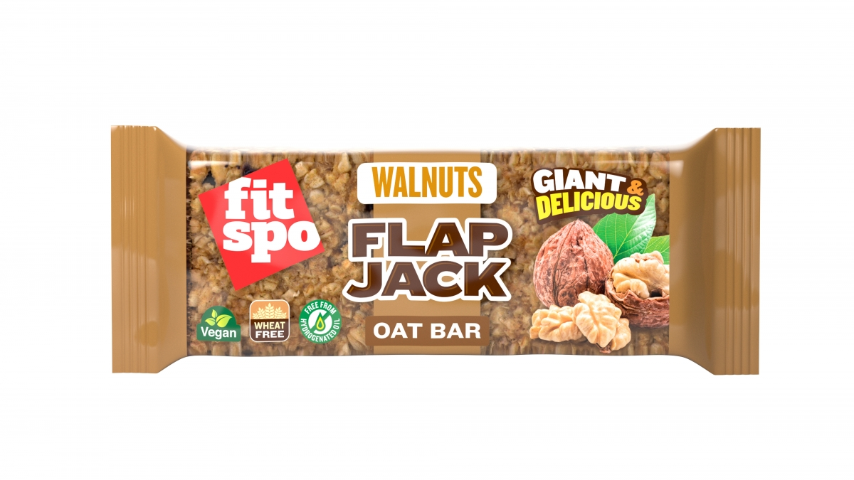 Fit Spo Flap Jack Energy Oat Bar Walnuts