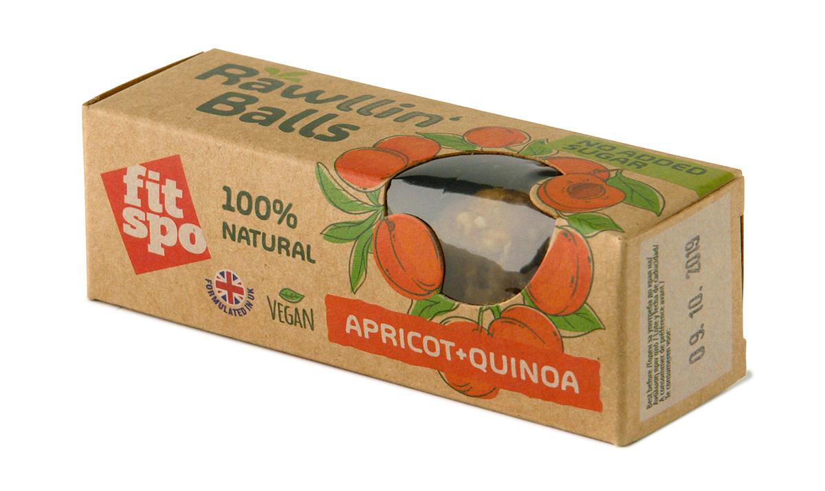 Fit Spo Rawllin` Balls Apricot + Quinoa