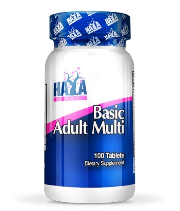 HAYA Labs Basic Adult Multivitamin 100 Tab.