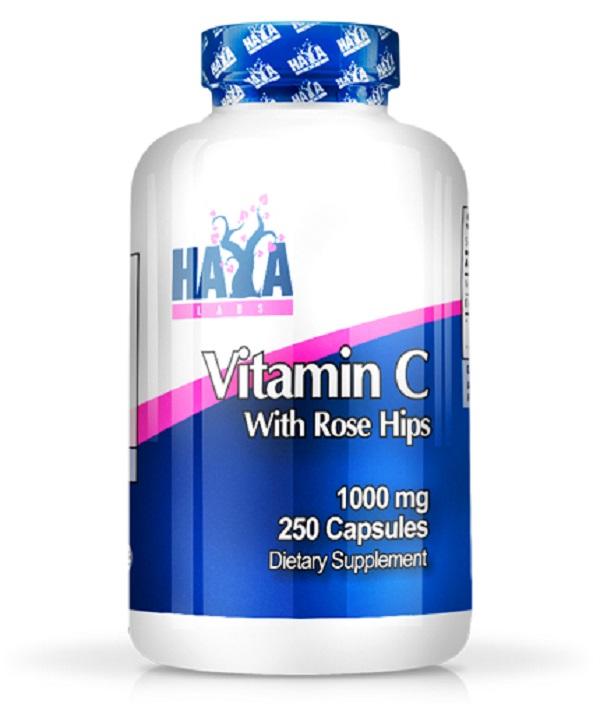 HAYA Labs High Potency Vitamin C 1,000mg With Rose Hips