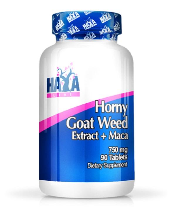 HAYA Labs Horny Goat Weed Extract 750mg + Maca 90tabs