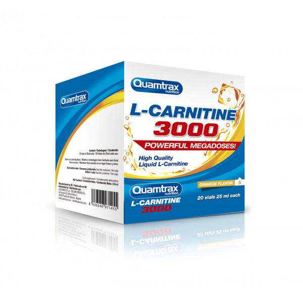 Quamtrax Nutrition L-carnitine 3000 (20 Vials)