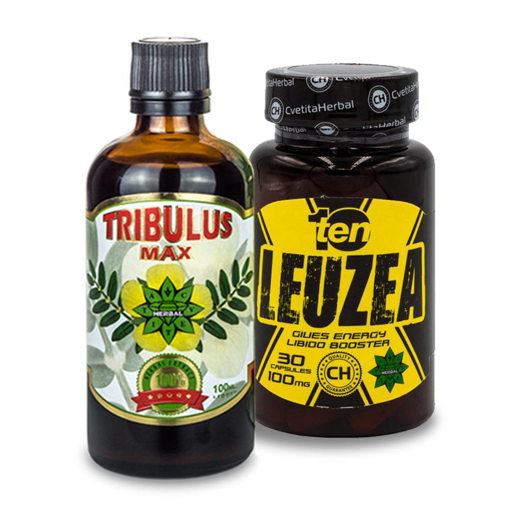 Tribulus Max Liquid + Leuzea 10 30caps