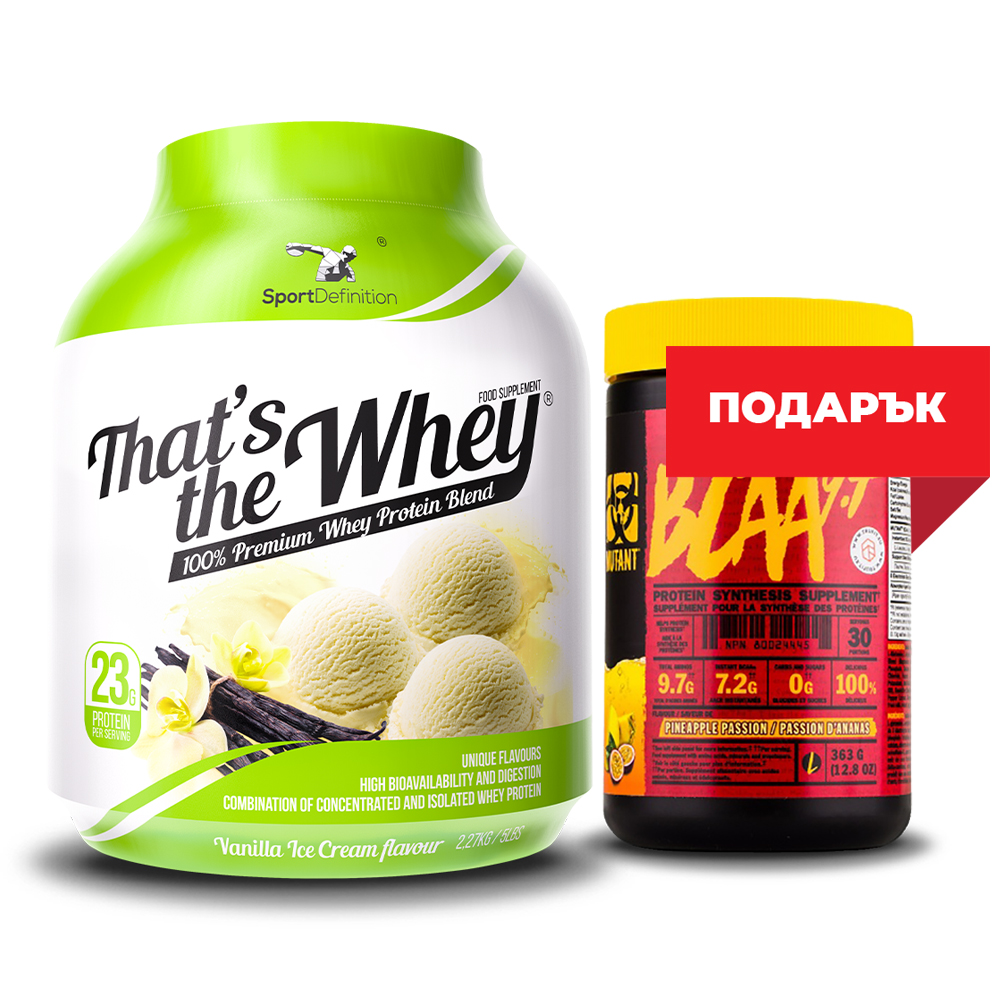 Sport Definition That′s The Whey 2,27kg + Mutant Bcaa Free