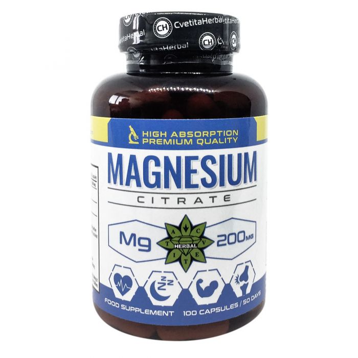 Cvetita Herbal Magnesium Citrate 100caps