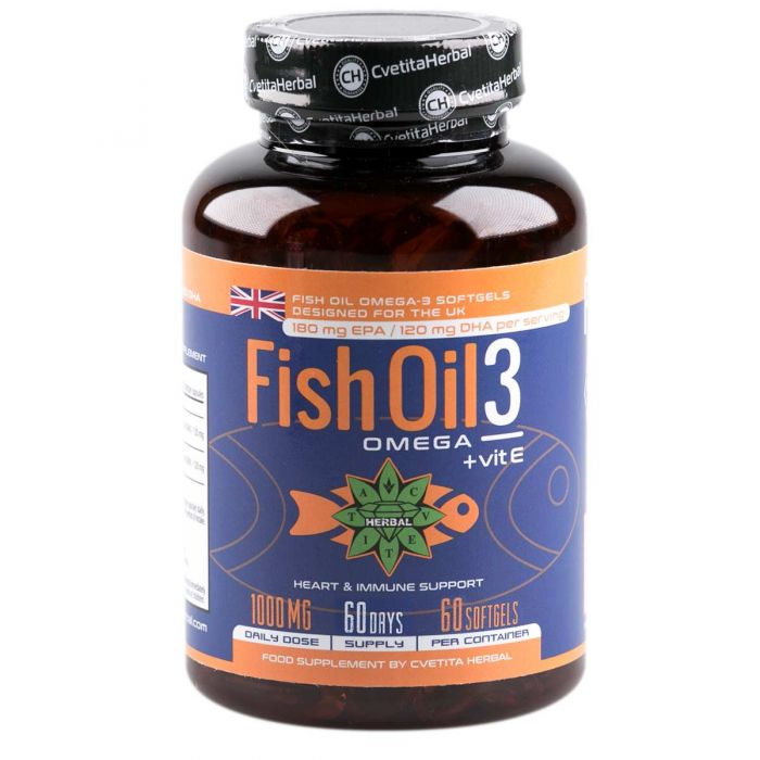 Cvetita Herbal Fish Oil 3: Omega + Vitamin E 60caps
