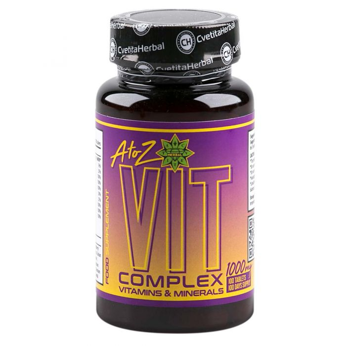 Cvetita Herbal A To Z Vit Complex 100tabs