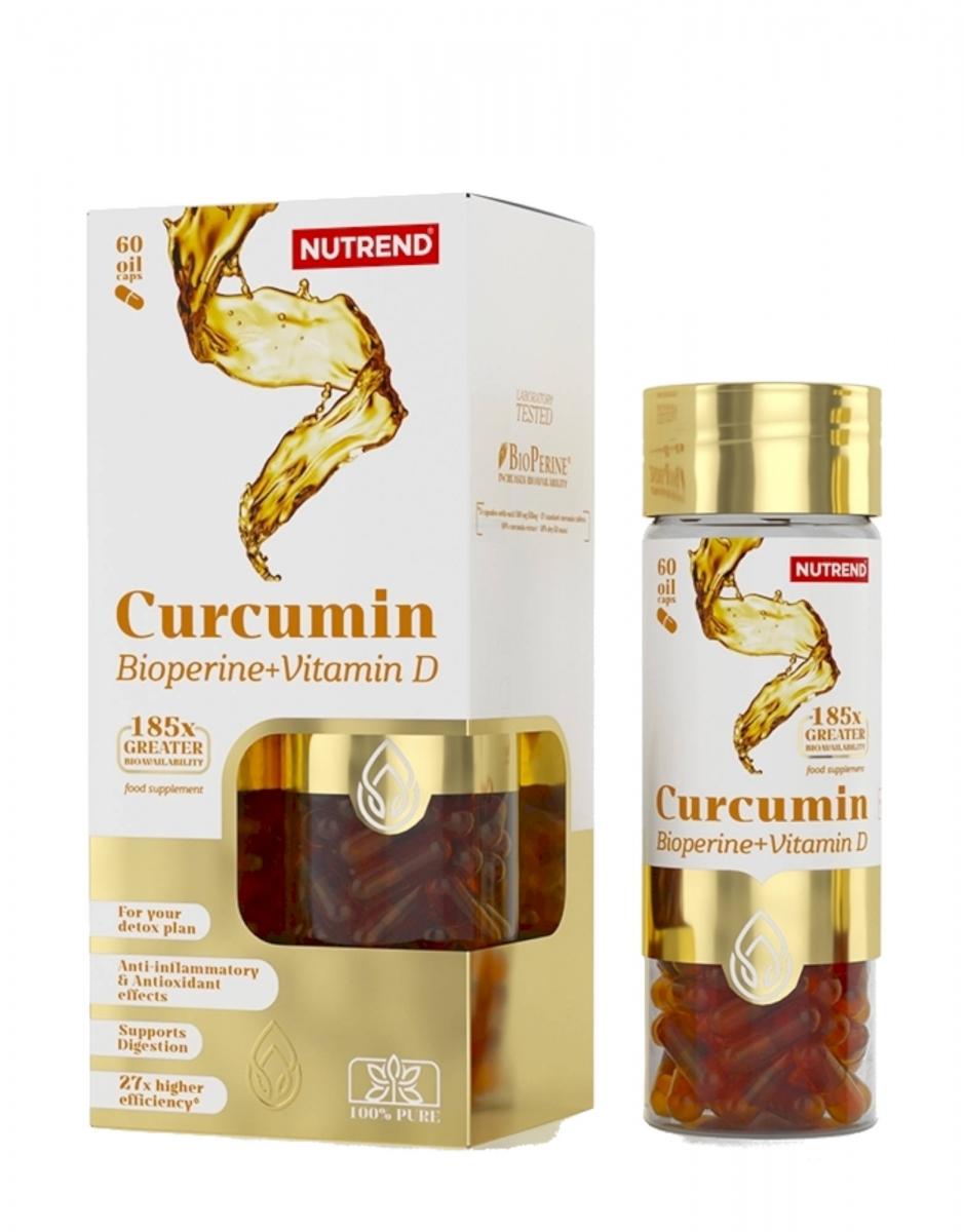Nutrend Curcumin+bioperine+vitamin D 60caps