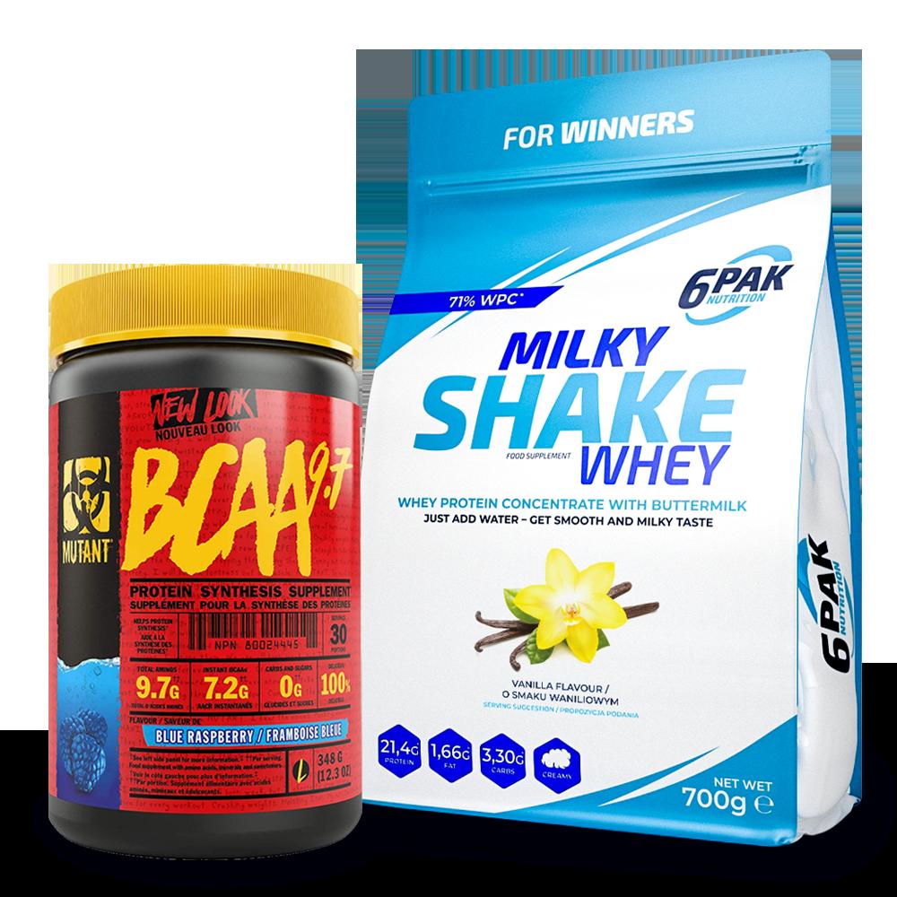 6PAK NUTRITION Milky Shake Whey 700g + Mutant Bcaa 348g