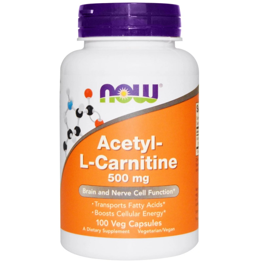 NOW Acetyl L-carnitine 500mg 100caps