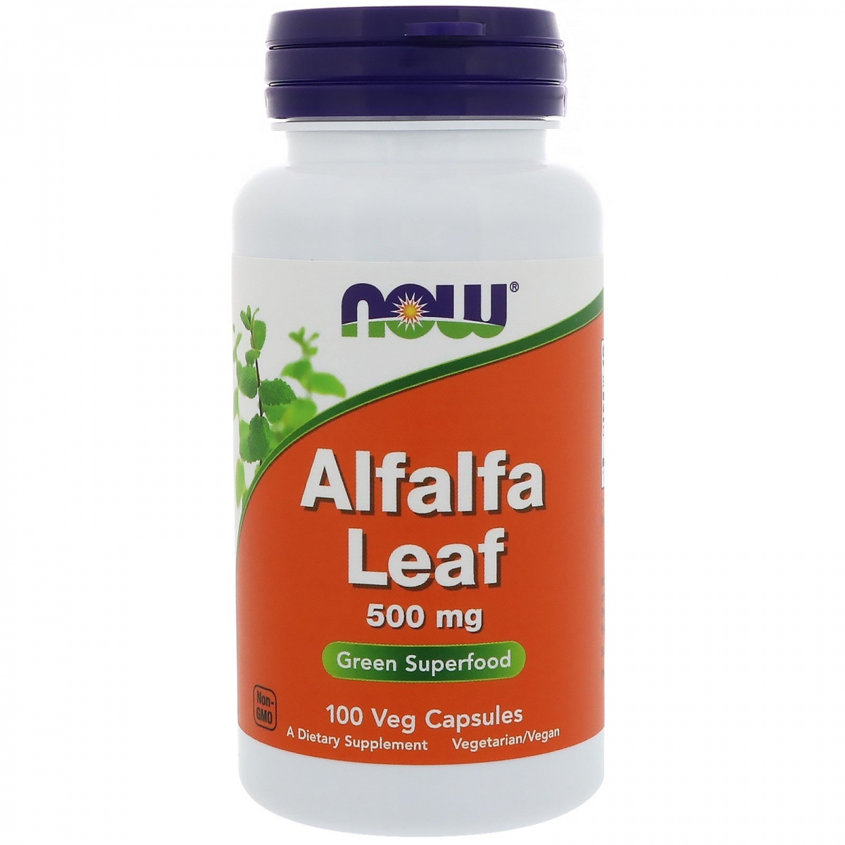 NOW Alfalfa Leaf 500mg 100caps