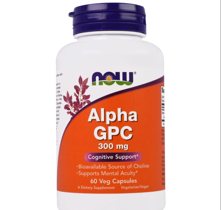 NOW Alpha Gpc 300mg 60caps