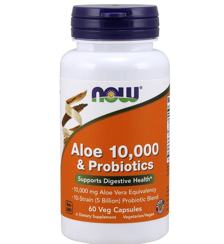 NOW Aloe Vera 10000&probiotics 60caps