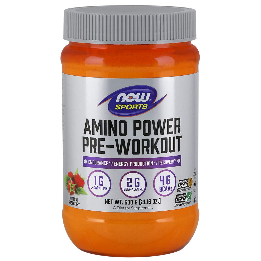 NOW Amino Power Pre-workout Raspberry 600g