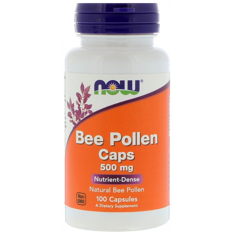 NOW Bee Pollen 500mg 100caps